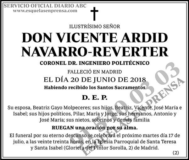 Vicente Ardid Navarro-Reverter